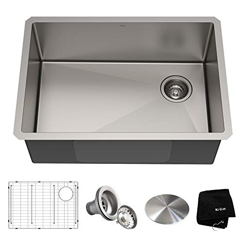 (Kraus KHU110-27 Standart PRO Kitchen Stainless Steel Sink, 27 Inch,)