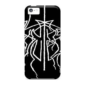 Scratch Resistant Hard Cell-phone Cases For Iphone 5c (OKz16517Caaz) Unique Design HD Metallica Skin