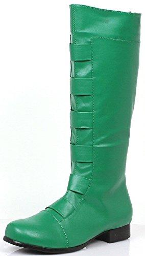 [Men's Green Costume Boots - Medium (10/11)] (Aquaman Halloween Costumes)