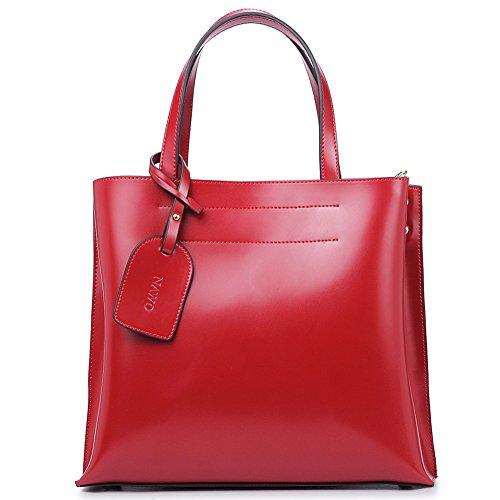 NAWO Women's Leather Handbags Designer Purse Shoulder Tote Cross-body Bag