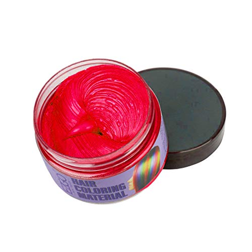 Vakker Mofajiang Hair Wax Color Styling Cream Mud, Natural Hairstyle Dye Pomade, Party Cosplay, Red