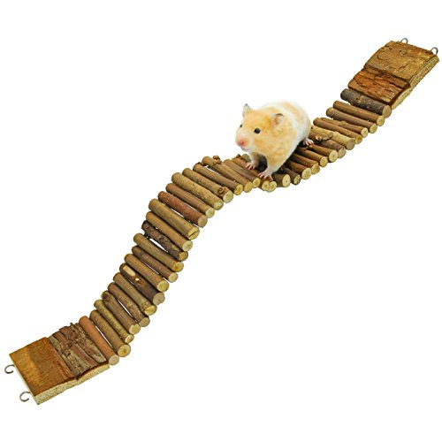 (Niteangel Suspension Bridge for Hamsters, Small Pet Ladder, 21.8