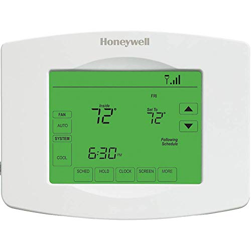Honeywell RTH8580WF 7 Day Wi-Fi Programmable Touchscreen Thermostat, White (Honeywell Rth9580wf Wifi)