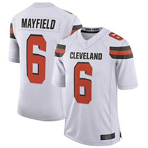 #6_Baker_Mayfield_Cleveland_Browns_Game Jersey-Men's (White, S)