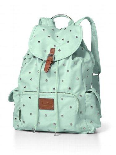 eae88cae0bf0 Victoria s Secret PINK Backpack Mint Studs