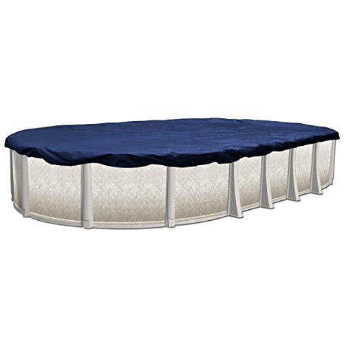 Winter Cover Oval - In The Swim Swimline 16 x 32 ft Oval Swimming Pool Winter Cover, 10-Year Warranty