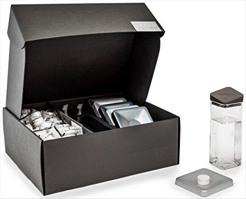 Italian Luxury Home Set For Compressed Napkin Service   With Sorrento Lemon And Green Tea Essences