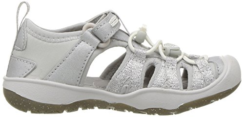 KEEN Baby Moxie Sandal, Silver, 5 M US Toddler - Image 7