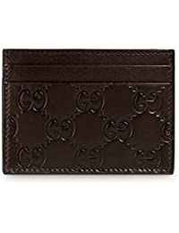 19331be521cc Signature GG Guccissima Leather Train Pass Card Case ID Wallet, Brown. Gucci
