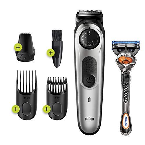 Braun Beard Trimmer BT5260, Hair Clipper for Men, 39 Length Settings, Black/Silver Metal