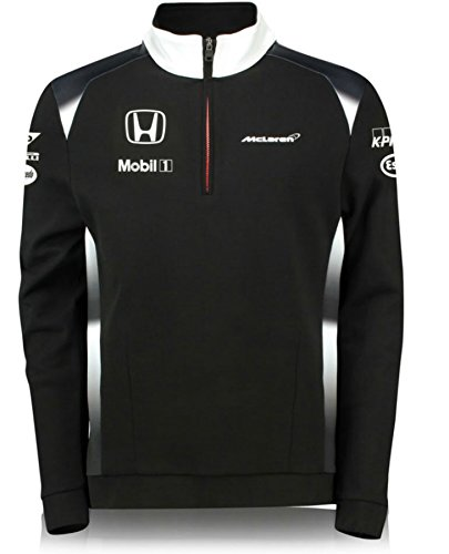 Sweatshirt Hoody Honda (Honda MCLAREN TEAM 1/4 ZIP SWEATSHIRT MENS 2016 REPLICA)