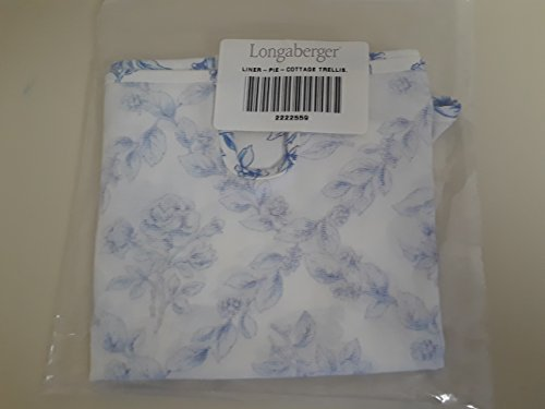 Longaberger Pie Single Handle Liner Cottage Trellis Fabric OE Liner