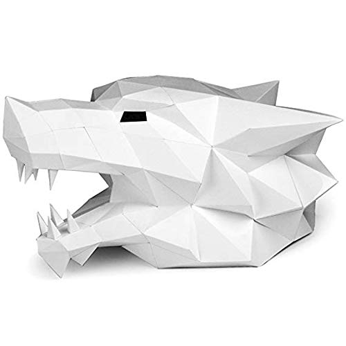 Amazon Com Paperraz White Wolf Head Mask 3d Animal Puzzle Low Poly