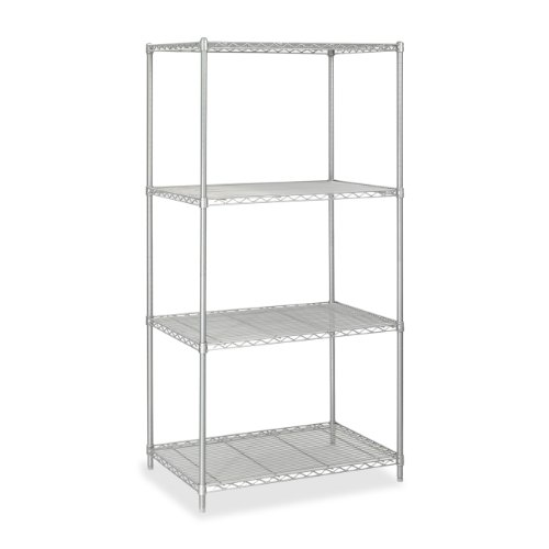 Safco Products 5288GR Industrial Wire Shelving Starter Unit 36