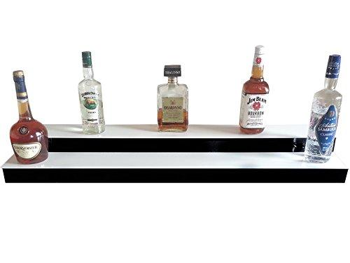 Bottles Display, Liquor Shelves, Bottles stand, LED Lighted bar steps WITH  REMOTE CONTROLLER, 1 metre length- 2 Tier