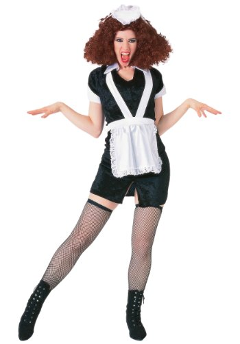 Forum The Rocky Horror Picture Show Magenta Complete Costume, Black/ White, X-Large