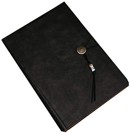 JYCDD A5 Tagebuch, Leder, auswechselbar, Papier
