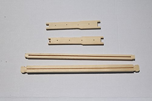Unassembled Frame - Dadant Ten Unassembled Deep Frames, Wedge Top, one Piece Split Bottom