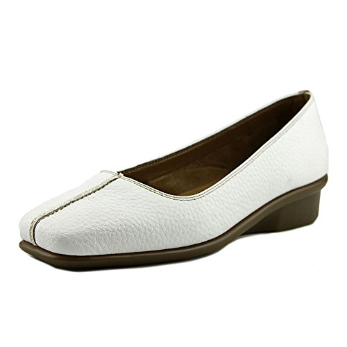 A2 By Aerosoles Baromoeter Women Square Toe Synthetic White Flats