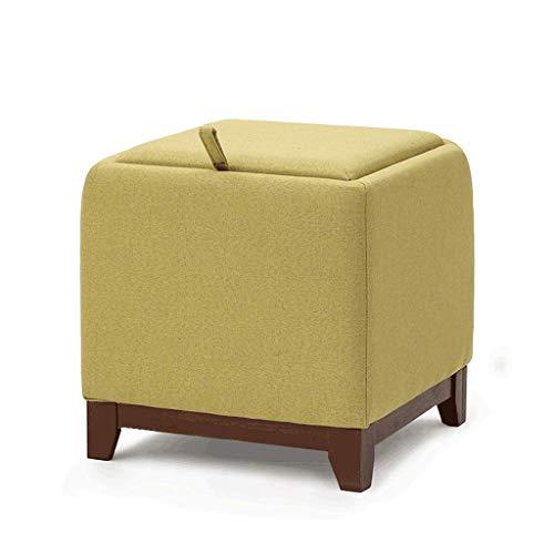 Amazon.com: Taburete Gaixia-Sofa de tela, taburete cuadrado ...