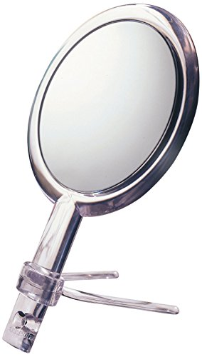 Floxite Fl-10h 10x Hand Held 2-sided Mirror with Stand, Clear