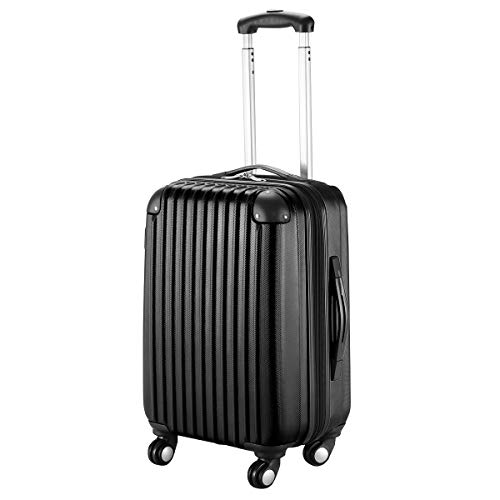Goplus 20'' ABS Carry On Luggage Expandable Hardside Travel Bag Trolley Rolling Suitcase GLOBALWAY (Black) by Goplus (Image #9)