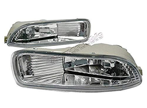 Remarkable Power FL7004 Fog Lights Bumper Lamps Kit OE Style Clear Fit For 2003-04 Toyota Corolla
