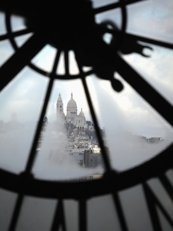 The View of Sacre Coeur Basilica from Clock in Cafe of Musee D'Orsay (Orsay Museum), Paris, France Photographic Poster Print by Bruce Yuanyue Bi, 18x24 (Best Time To Visit Musee D Orsay)