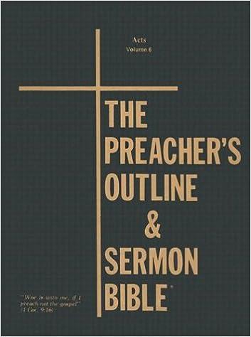 Preacher's Outline & Sermon Bible-KJV-Acts: 9781574070316