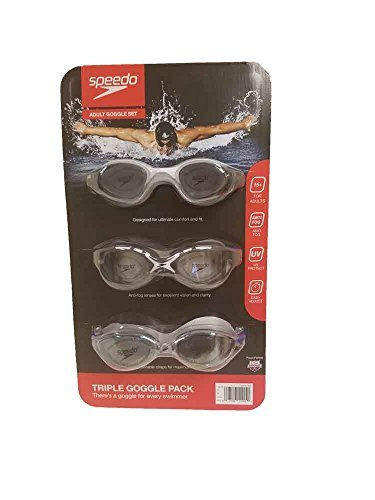 Speedo Triple Goggle Pack Adult - Tri Goggles Best