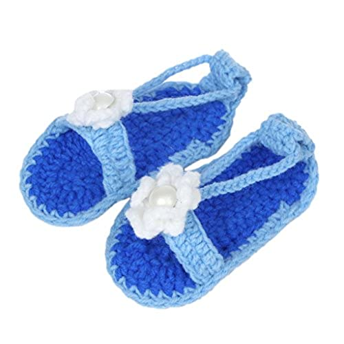 dfa8481b2b200 meilleur Bigood Sandales Bébé Garçon Fille au Crochet Chausson Décor Fleur