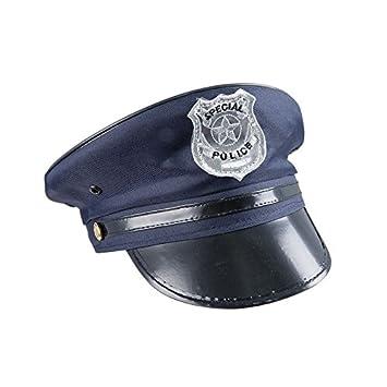 P TIT CLOWN 17460 - Gorra de policía de adulto 13cbd96877c