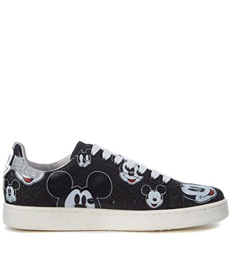 Moa Master Of Arts Womens Moa Mikke Mus Black Glitter Sneaker Svart