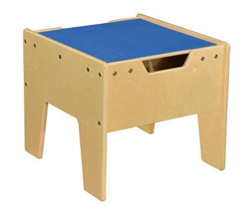 2-N-1 Activity Table with Blue Lego Compatible Top - RTA by Contender