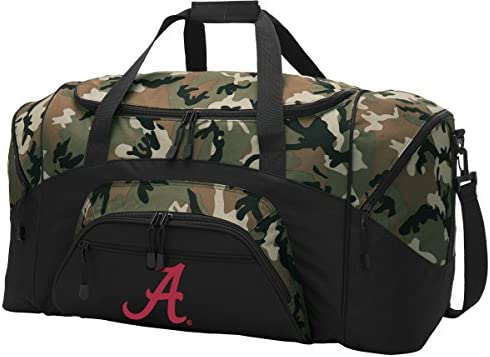ba8fd24ba6 Amazon.com   Broad Bay Large Alabama Duffel Bag CAMO University of Alabama  Suitcase Duffle Luggage Gift Idea for Men Man Him!   Sports   Outdoors