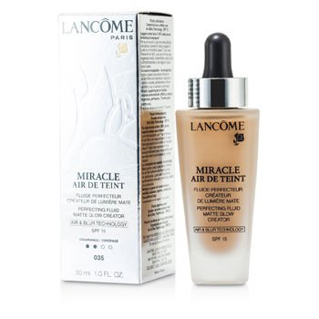 Lancome Miracle Air De Teint Perfecting Fluid Spf 15, 035 Beige Dore, 1 Ounce