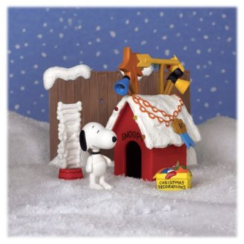 a brown christmas snoopy s doghouse playset