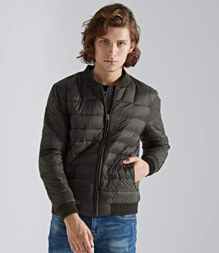 Green Jacket Down Army Men's Coats Medeshe Bomber Lightweight Puffy zWHO8
