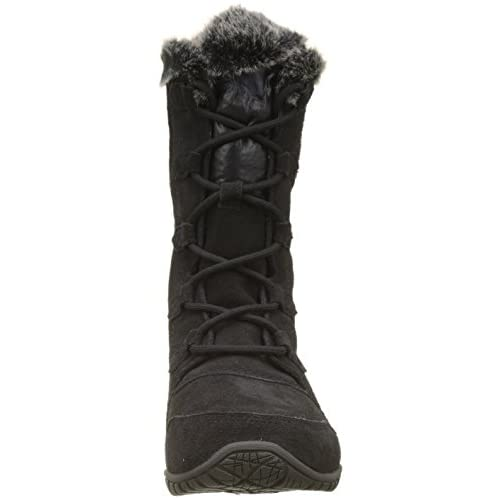 shoewhatever Fur Lined Girls Calf Quilted Knee High Flat Winter Snow Boots