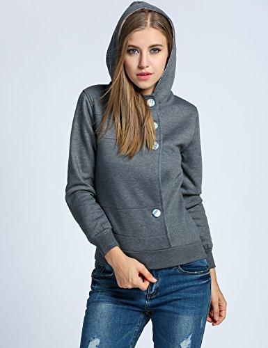 ZEARO Damen Hoodie Kapuzenpullover Kapuzensweater Sweatshirt Langarm Pullover Tops mit Kapuze