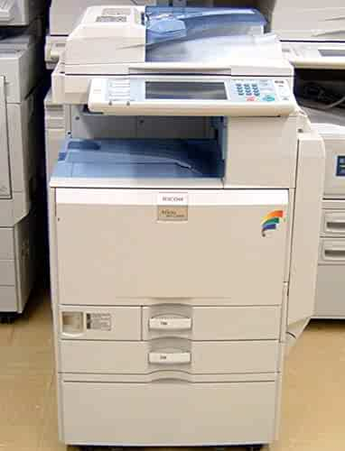 Refurbished Ricoh Aficio MP C2500 Color Multifunction Printer - 25 ppm, Tabloid-size, Copy, Print, Scan, 2 Trays