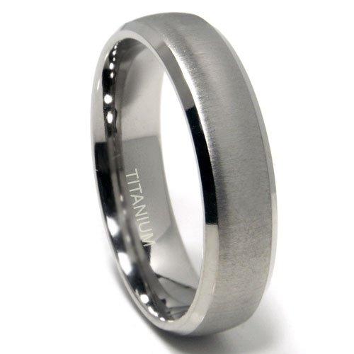 Titanium 6mm Satin Finish Dome Wedding Band Ring Sz 10.5 (Band Titanium Dome)