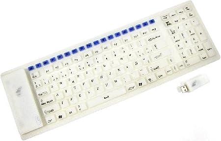 Cablematic - Teclado flexible USB de 126 teclas inalámbrico ...