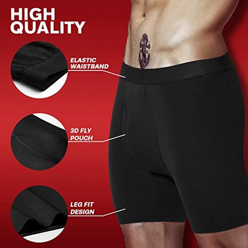 Mens Boxer Briefs No Ride-up Cotton Underwear Men Pack Assorted Colours Mens Underwear S M L XL XXL