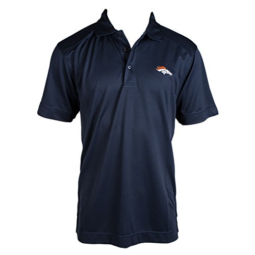 NFL Cutter & Buck Denver Broncos Navy Genre Performance Polo (Denver Broncos Cutter)