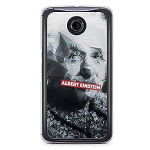 Albert Einstein Nexus 6 Transparent Edge Case - Heroes Collection