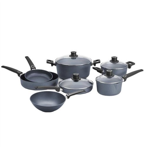 Cheap Woll Diamond Plus 11 Piece Nonstick Induction Cookware Set with 11.75 Inch Wok