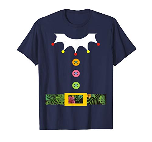 Funny Christmas Elves Costumes Tees Xmas In July Elf Shirt ()
