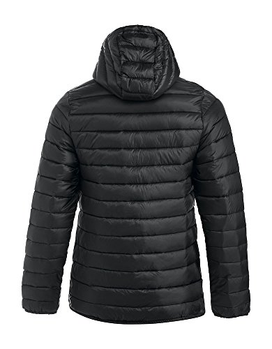 Giacca Hood Cerniera 3xl Cappuccio Tasche Leggera Colore Staccabile S Con Colour Lightweight Giù Padding Removable Opzioni Di Mens Like Jacket Pockets Options 3 Imbottita Padded 3xl Puro Nero Zipped Come Mens S Down Black Imbottitura Pure 3 zIwqA81