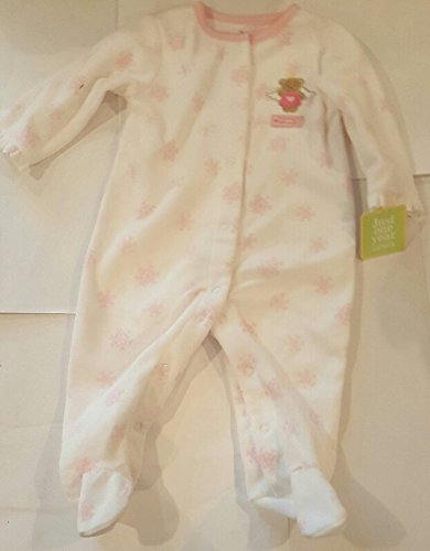 [Famous Maker 9 Month White Pink Mommys Little Angel Footie Pajamas NWT] (Angel Pajama Infant & Toddler Costumes)